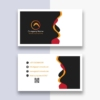 Download Black & White Visiting Card Free Vector Template