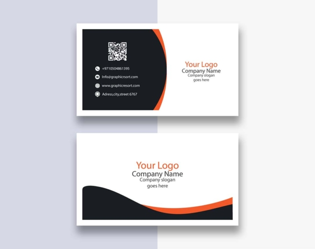 clean style visiting card