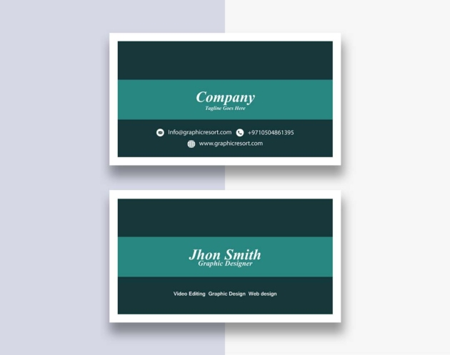 simple visiting cards