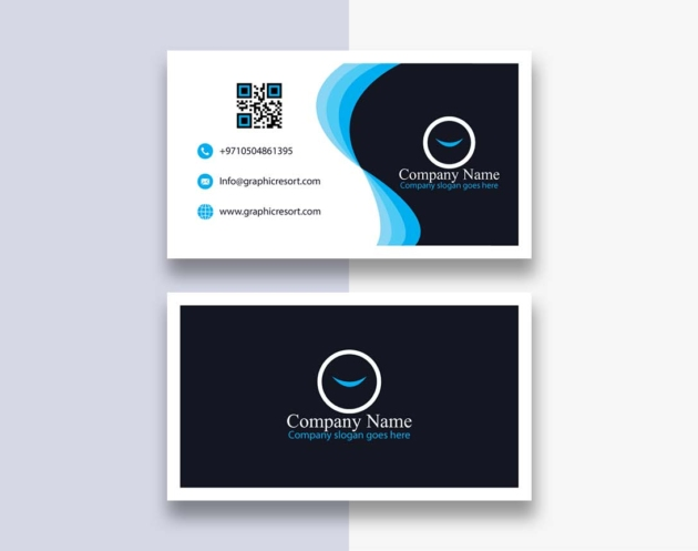 double sided visiting card