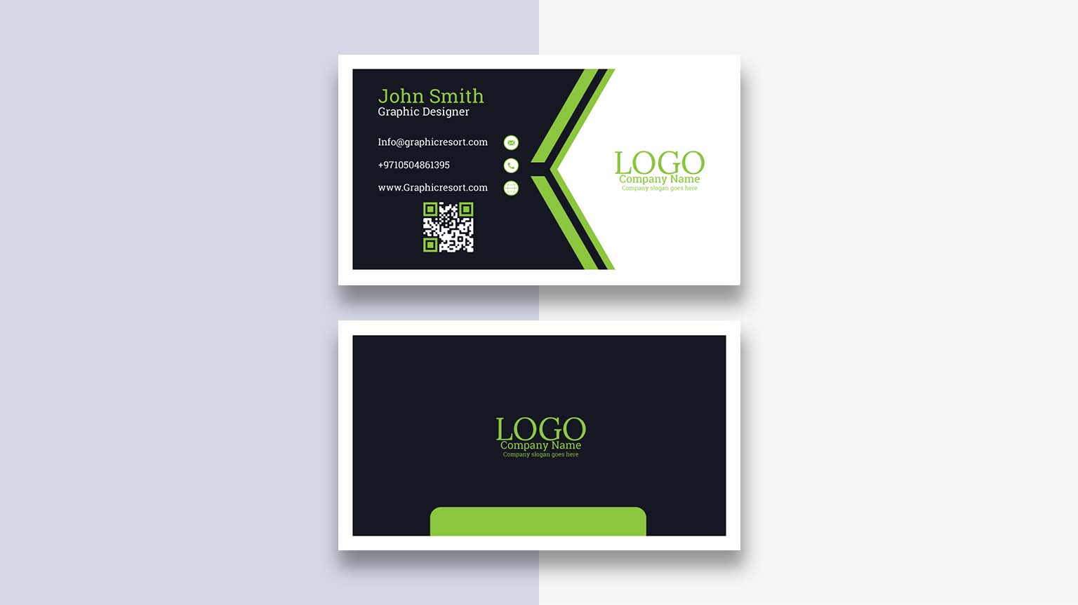 attractive visiting card