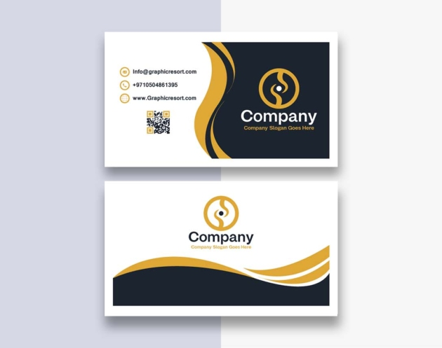 two sided visiting card