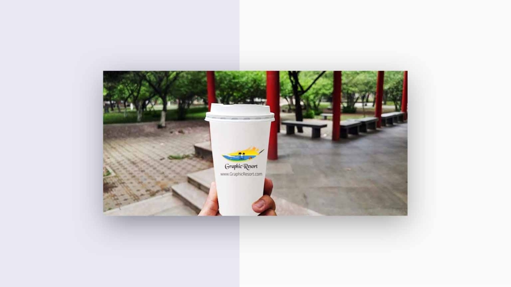 paper cup coffee mockup