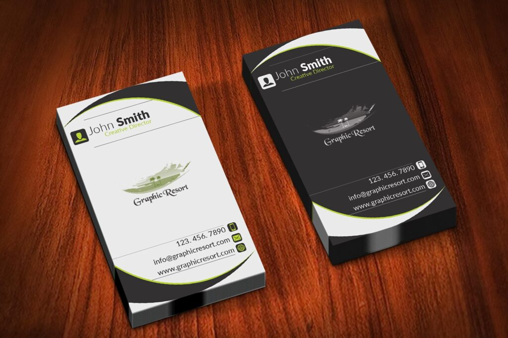 Two Color Tone Business Cards Free PSD Template Vol 6 main