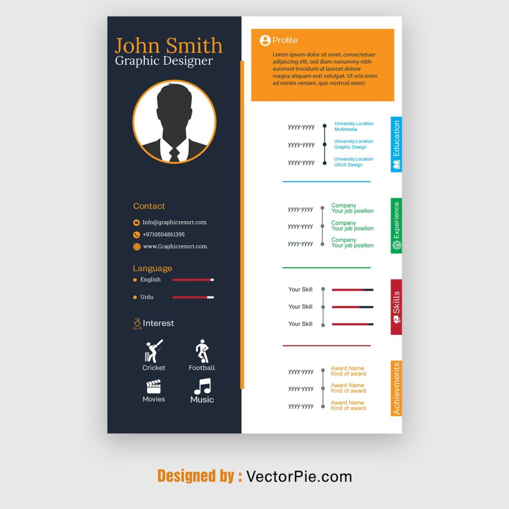 CV design From Vectorpie preview image