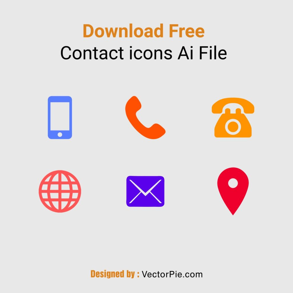 Download Colorful Contact icons Ai File 1