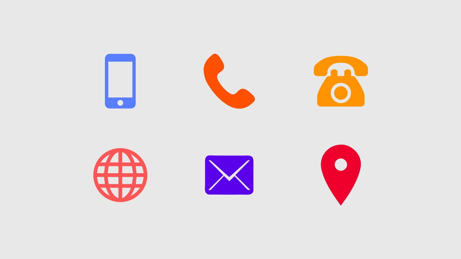 Download Colorful Contact icons Ai File 2