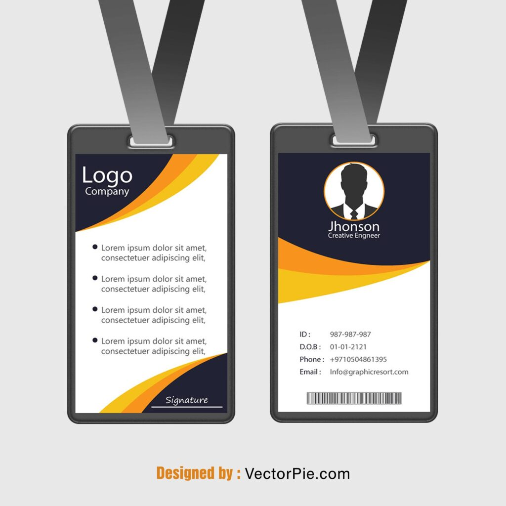 Employee Card design Ai File From VectorPie vol 3 1