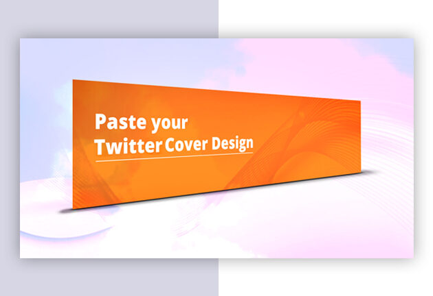 Twitter Cover Mockup Design From Vector Pie 3 3