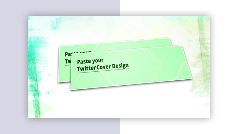 Twitter Cover Mockup Design From Vector Pie 4 3