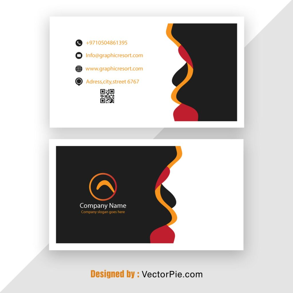 Visiting Card design Ai File From Vector Pie 1