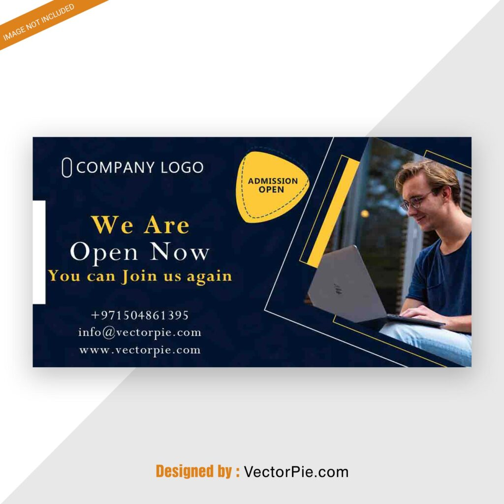 Admission post banner design from VectorPie Preview