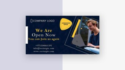 Admission post banner design from VectorPie Preview 2 1