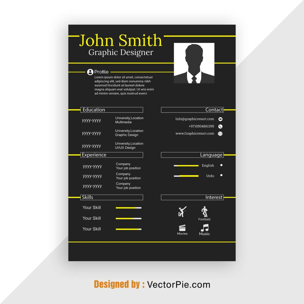 CV design From VectorPie vol 10 Preview 2