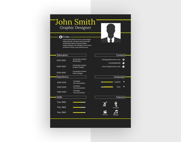 CV design From VectorPie vol 10 Preview