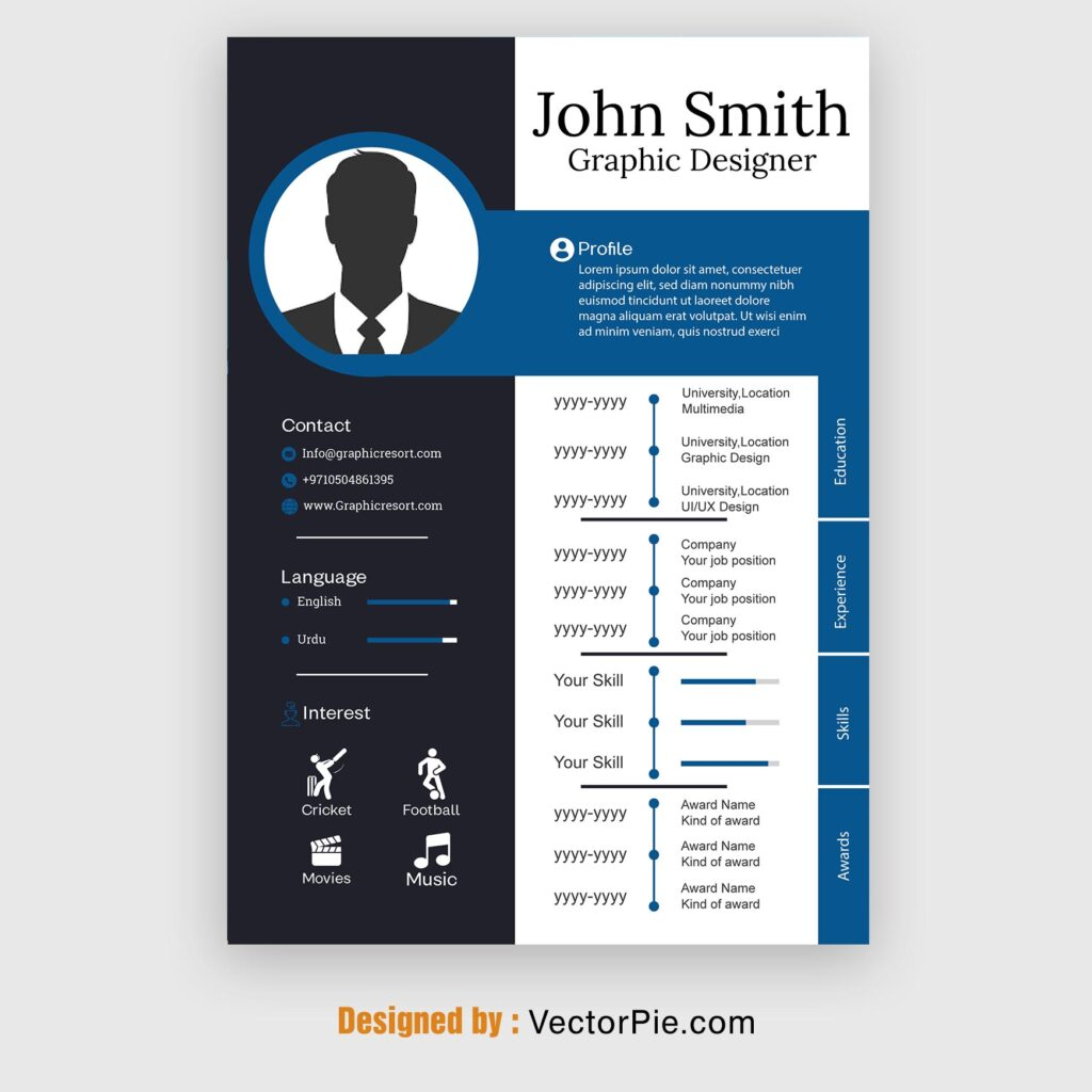 CV design From Vectorpie preview 2