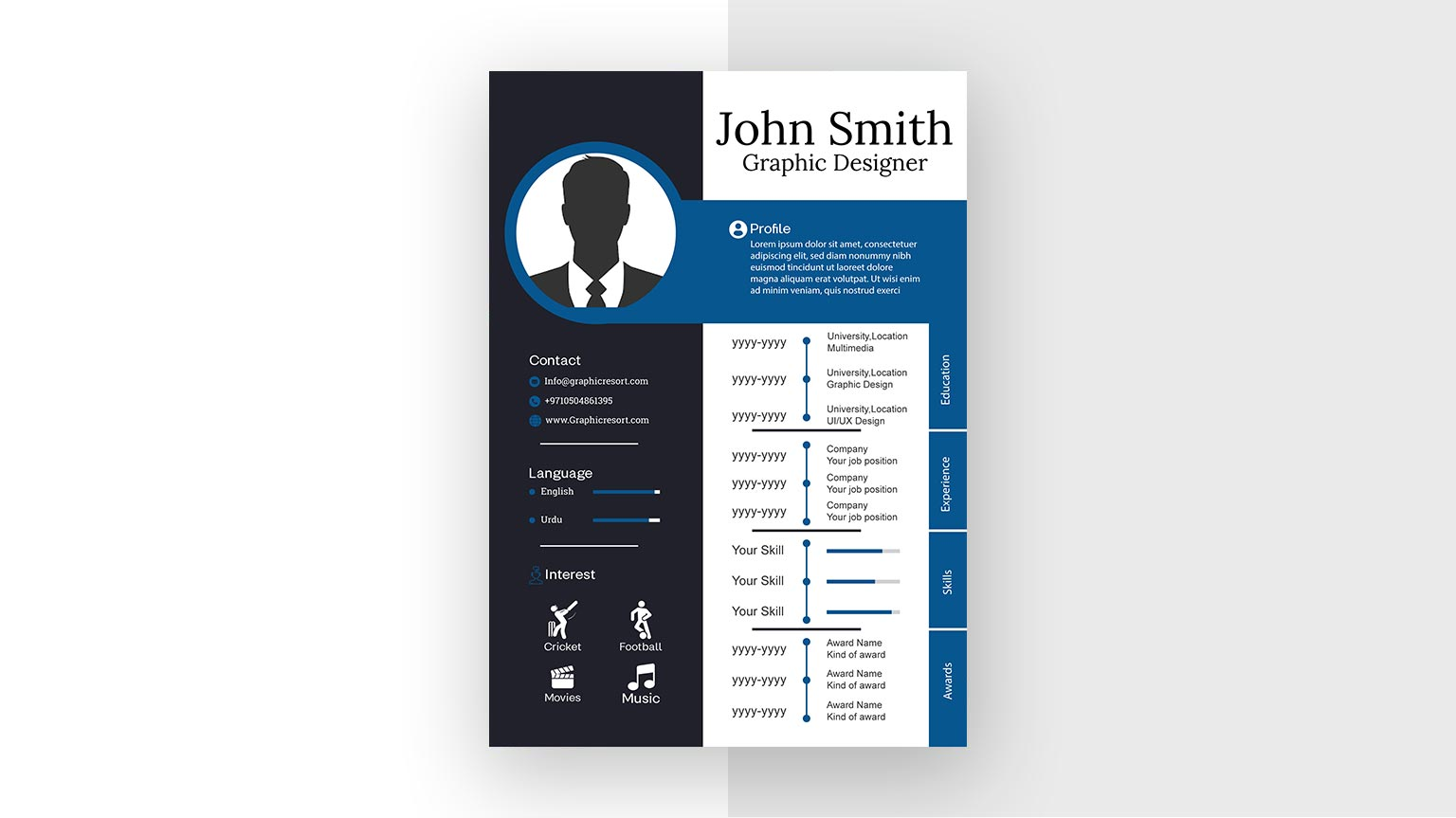 CV design From Vectorpie preview