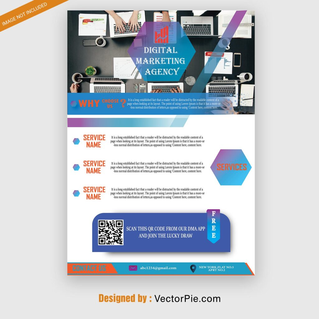 DIGITAL MARKETING BANNER Flyer design From Vectorpie preview