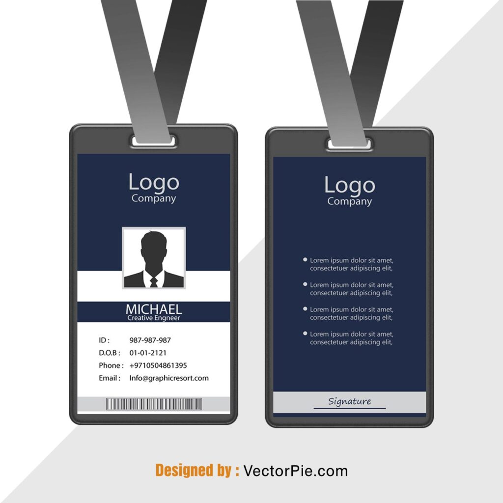 Employee Card design Ai File From VectorPie vol 5 preview