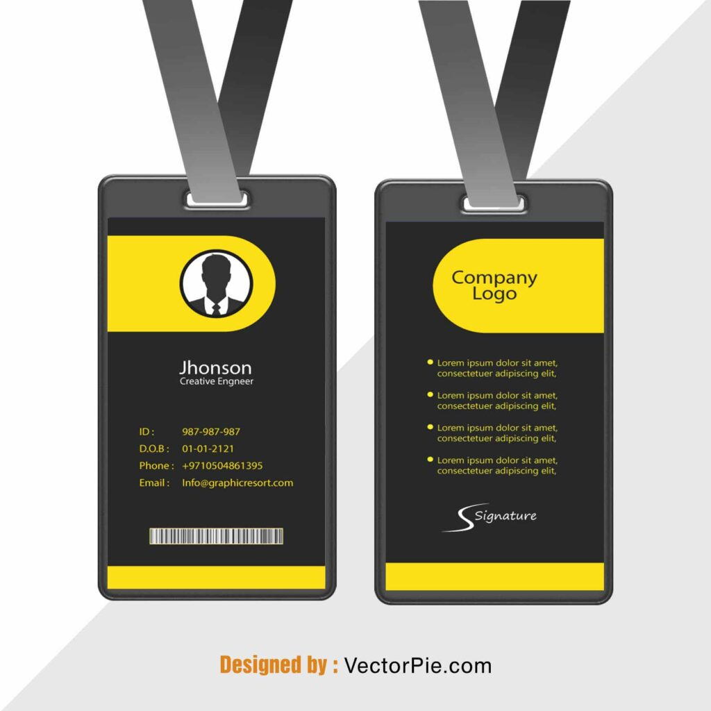 Employee Card design Ai File From VectorPie vol 6 preview 1