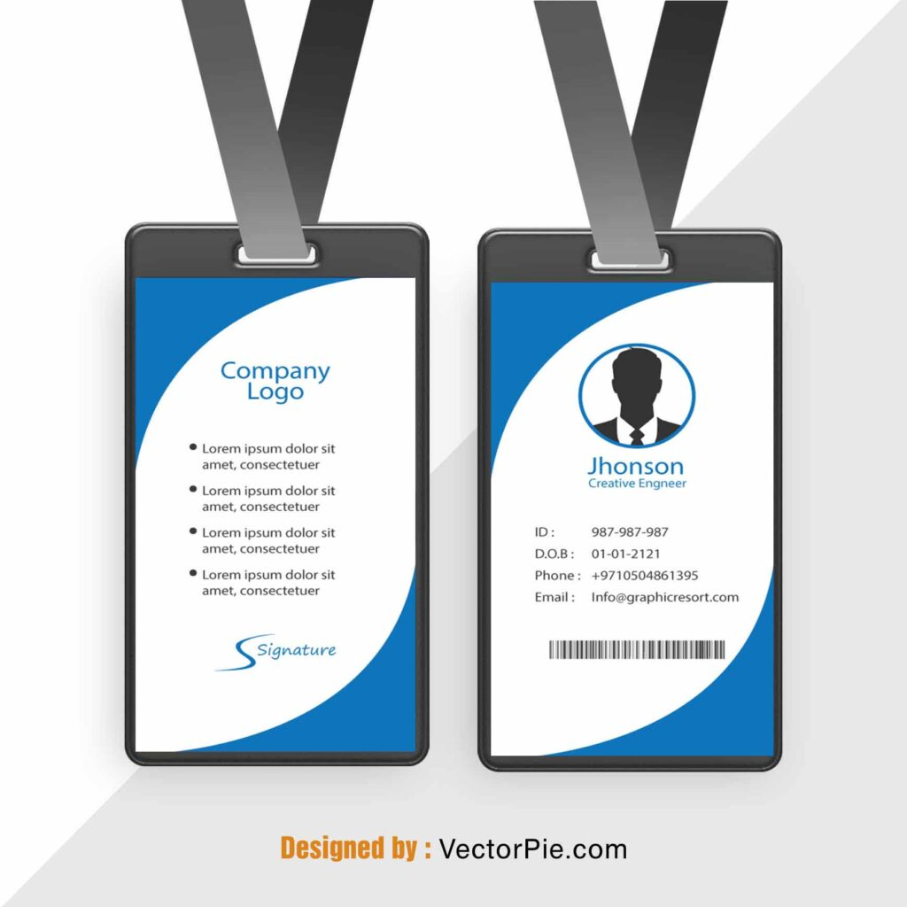 Employee Card design Ai File From VectorPie vol 6 preview 2