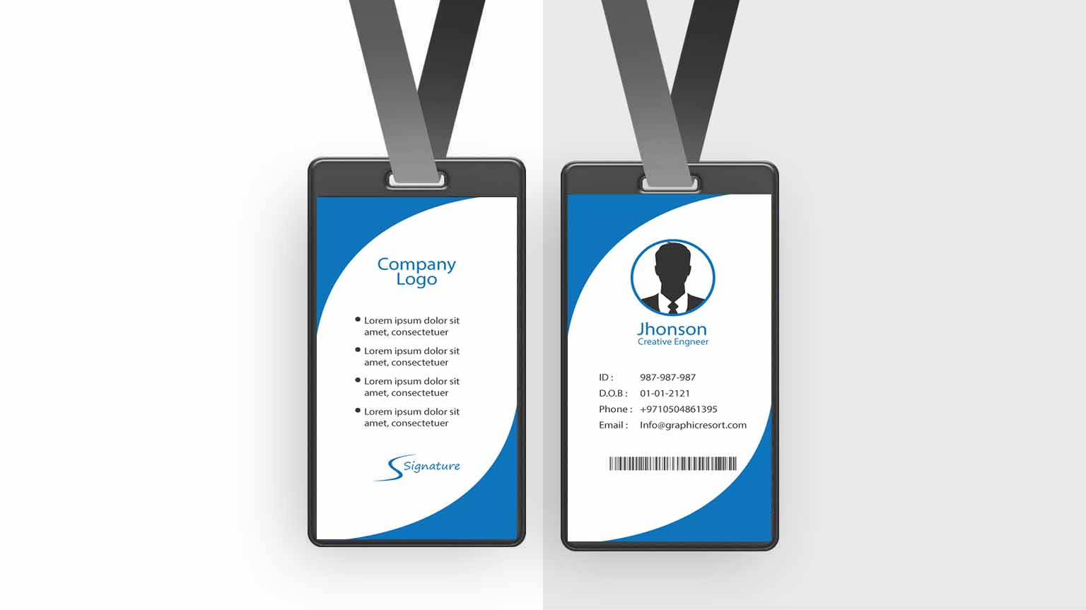 Employee Card design Ai File From VectorPie vol 6 preview2 2