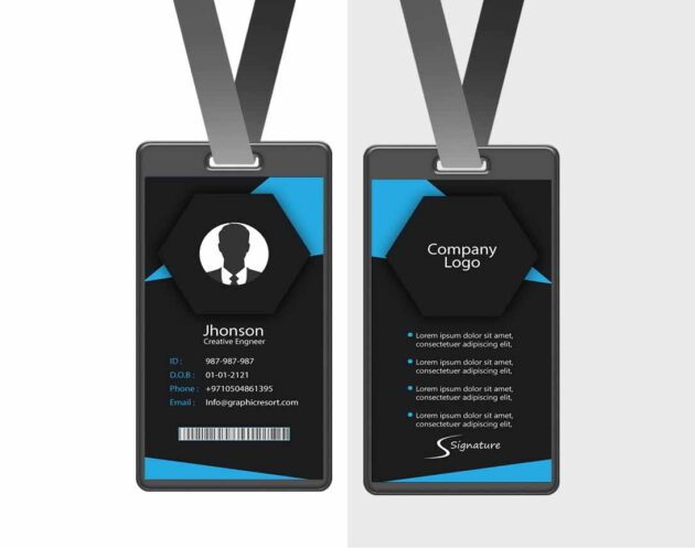 Employee Card design Ai File From VectorPie vol 6 preview2