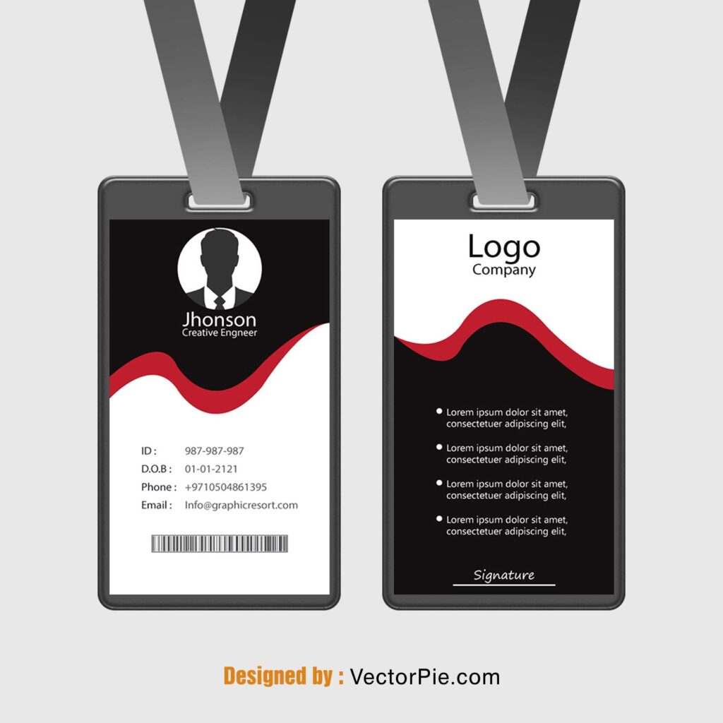 Employee Card design Ai File From Vectorpie vol 4 prieviewe