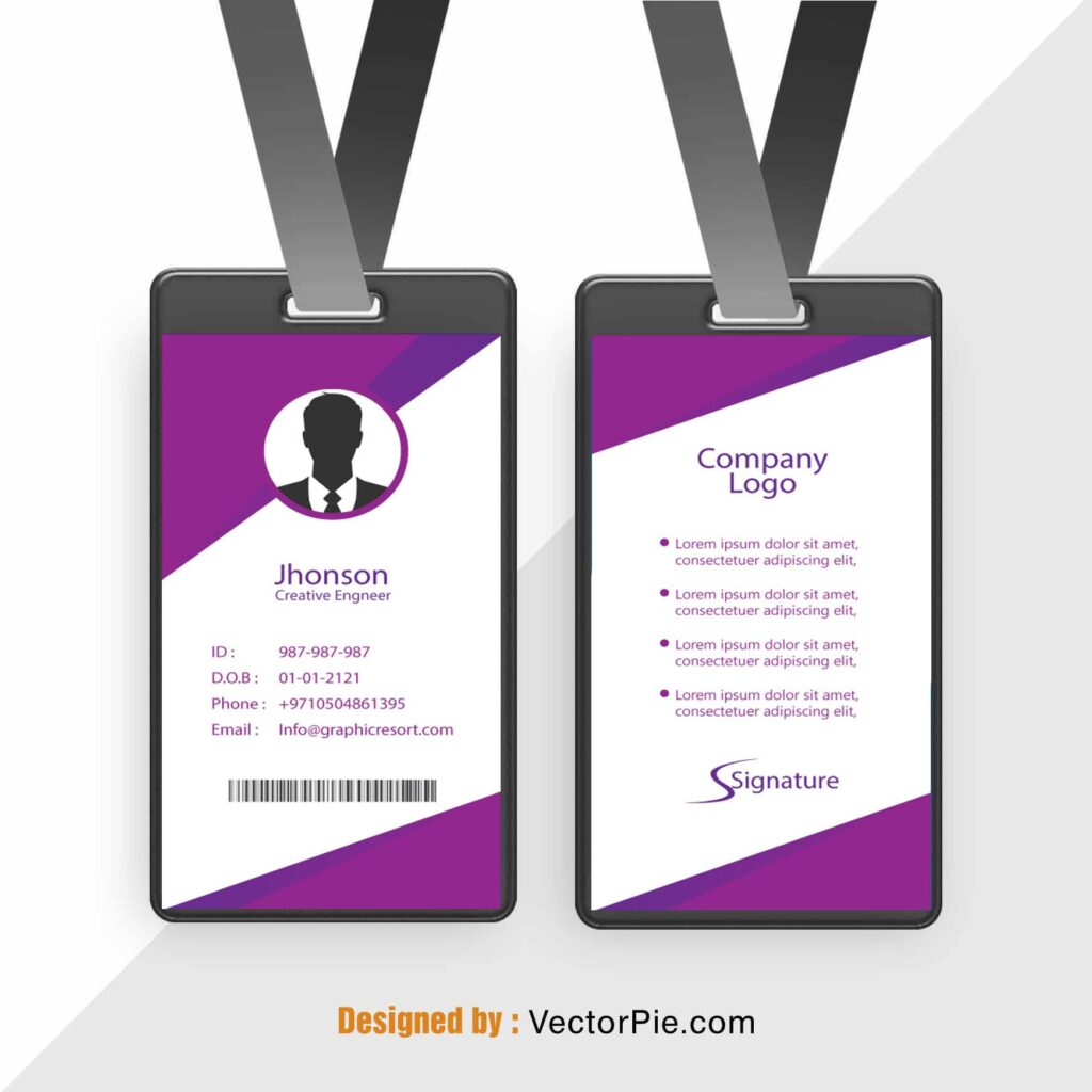 Employee Card design Ai File FromVectorPie vol 9 2 1
