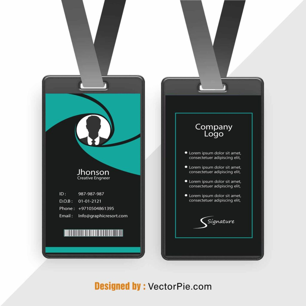 Employee Card design Ai File FromVectorPie vol 9 2