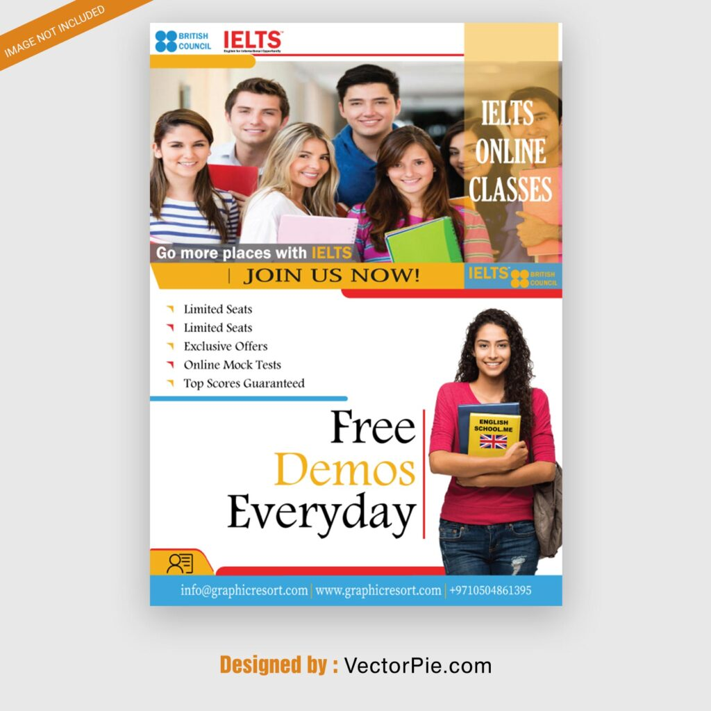 Ielts course Flyer design From Vectorpie Preview 2