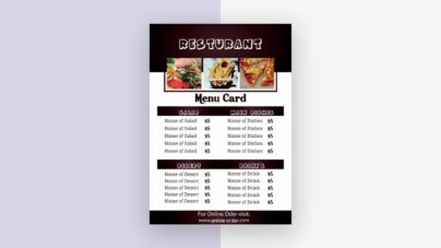 Preview menu card designed by Vector pie 3