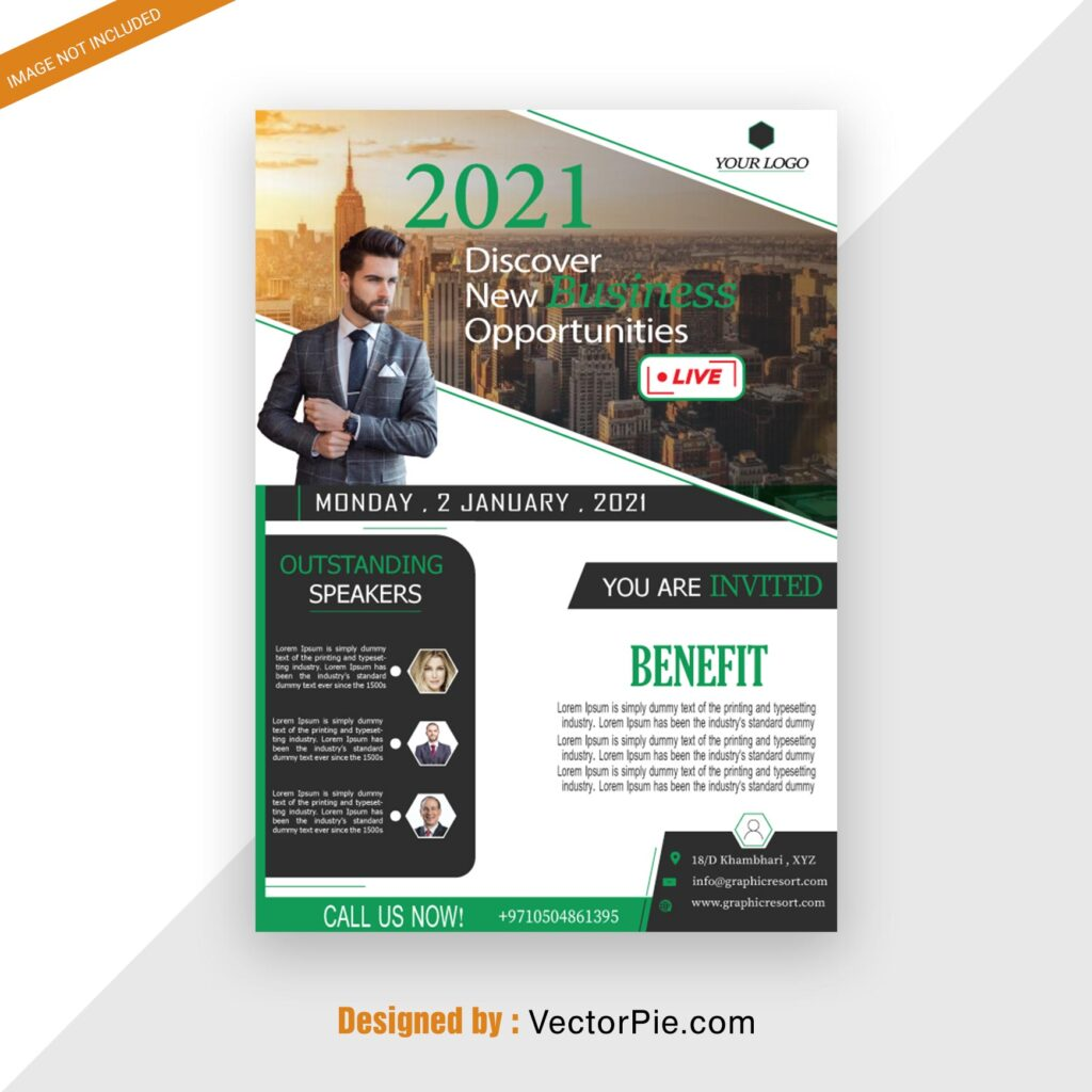 Seminar Flyer design From Vectorpie Vol6 Preview