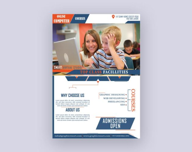 onilne Computer course Flyer design From Vectorpie vol 2 preview