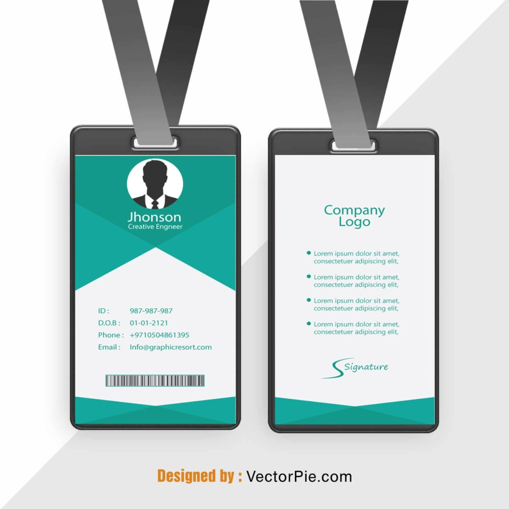 Employee Card design Ai File FromVectorPie vol 11.