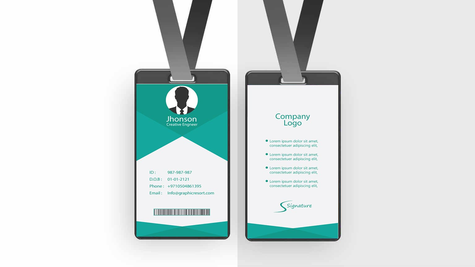 Employee Card design Ai File FromVectorPie vol 11